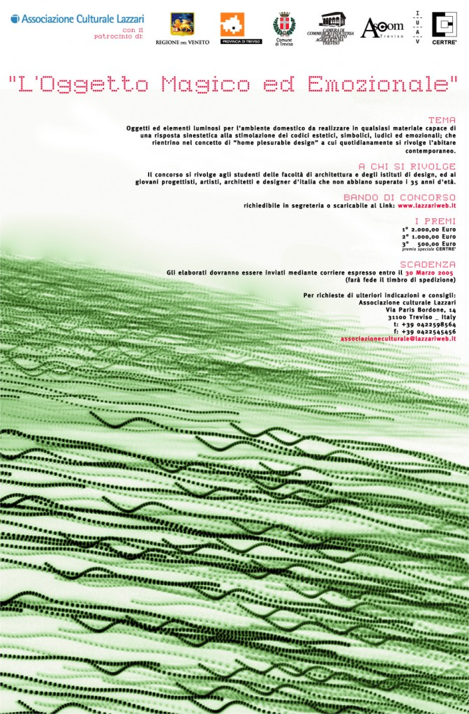 01.02.2005 – On line the design contest 'L'oggetto magico ed emozionale'