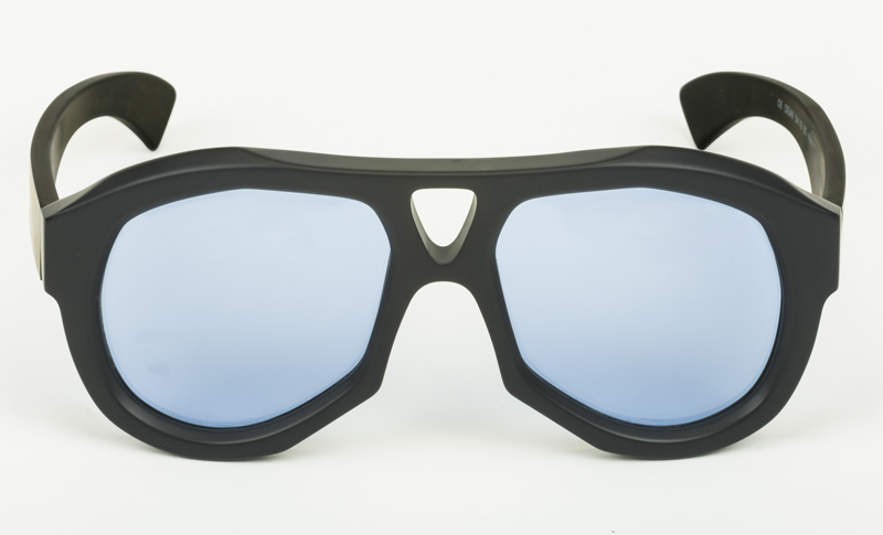 Paul-Easterlin-Sunglasses-Dean-BLACK OPAQUE-LENS BLUE