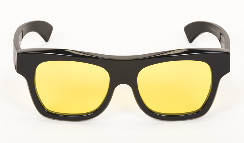 Paul-Easterlin-Sunglasses_Newman-BLACK SHINY-LENS YELLOW