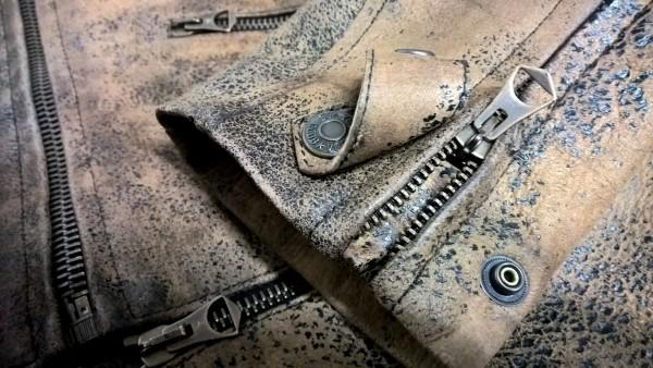 Golden Goose Biker Leather Jacket detail