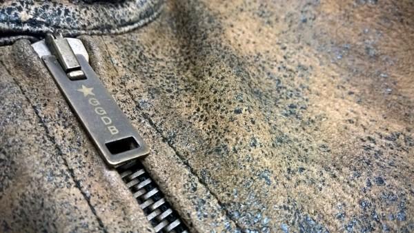 Golden Goose Biker Leather Jacket Zip Closure