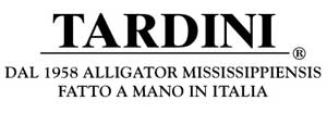 Tardini accessories made in Italy from alligator mississippiensis