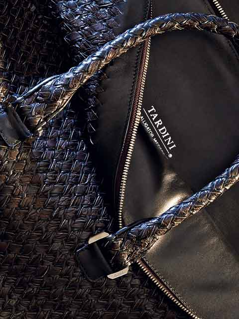 Tardini Accessories made in Italy alligator leather handmade
