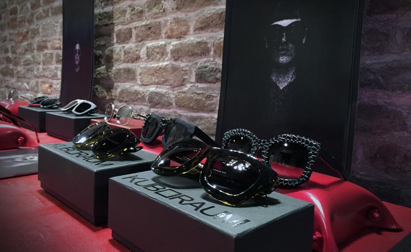 Kuboraum glasses/sunglasses art fashion exhibit at Lazzari