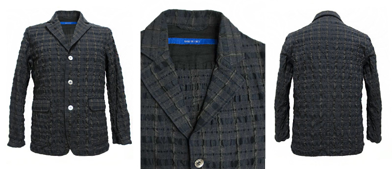 Sage de Crêt Grey Checkered Men's Jacket | Sage de Crêt Menswear